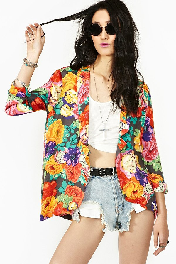 Pop this Nasty Gal Chelsea Floral Blazer ($90) on to instantly brighten up a t-shirt and jeans.
