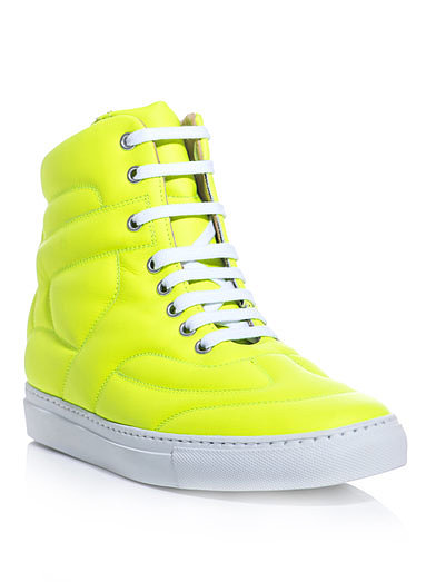 Maison Martin Margiela Neon High-Top Trainers