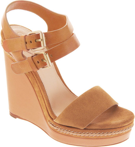 Chlo Double Ankle Strap Wedge Sandal