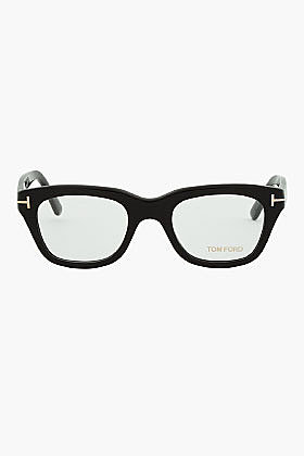 TOM FORD Black Thick Frame FT5178 Cat Eye Glasses
