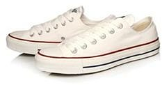 Converse white chuck taylor ox fashion trainers