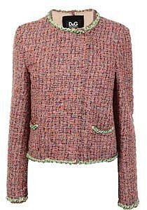 D&amp;g Boucle Tweed Chain Trim Jacket