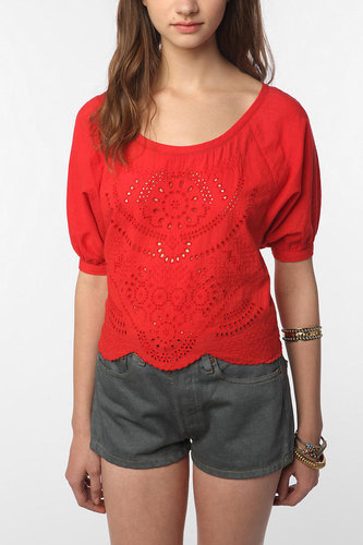Ecote Eyelet Peasant Blouse