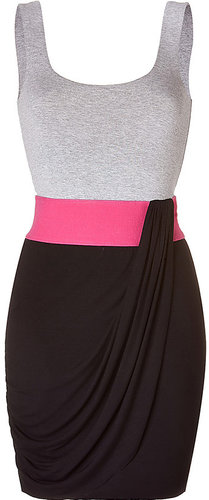 Evelyn Lozada&#039;s Colorblock Pink Grey Black Dress