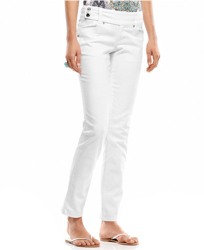 Style&amp;co. Petite Jeans, Skinny-Leg, White Wash