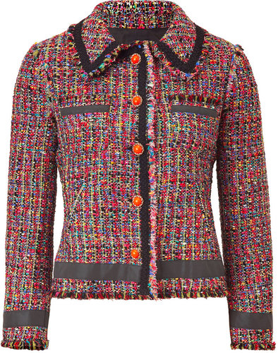Moschino C&amp;C Magenta Multicolor Boucl Jacket