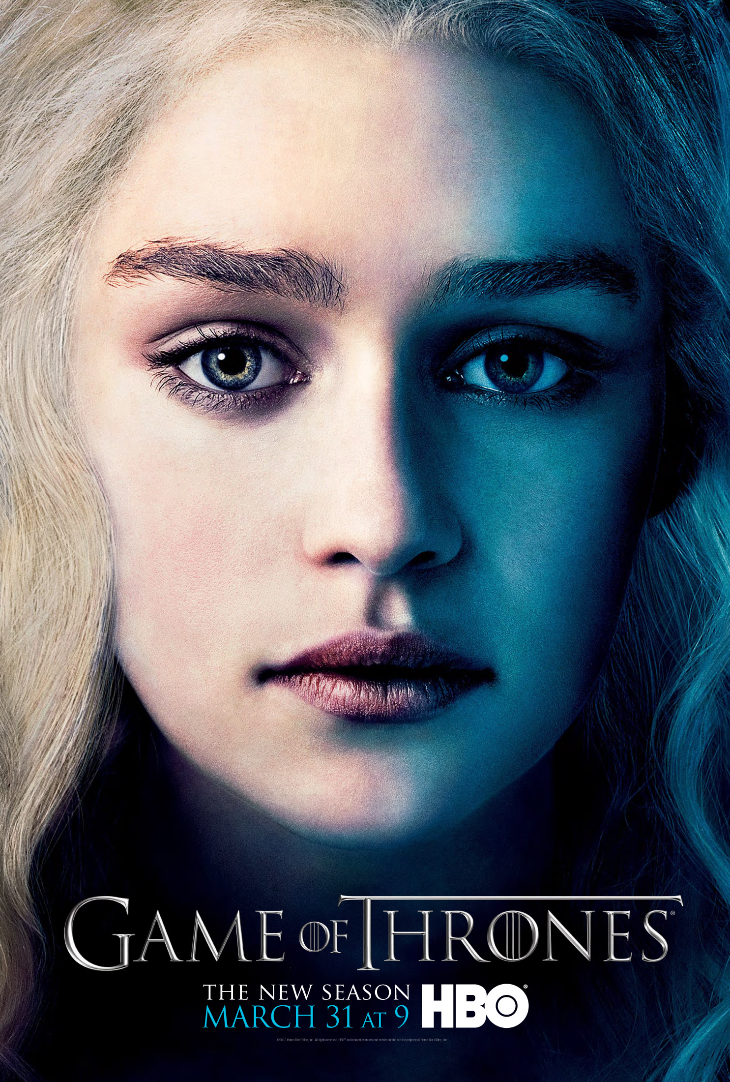 Daenerys Targaryen Game of Thrones season three poster.