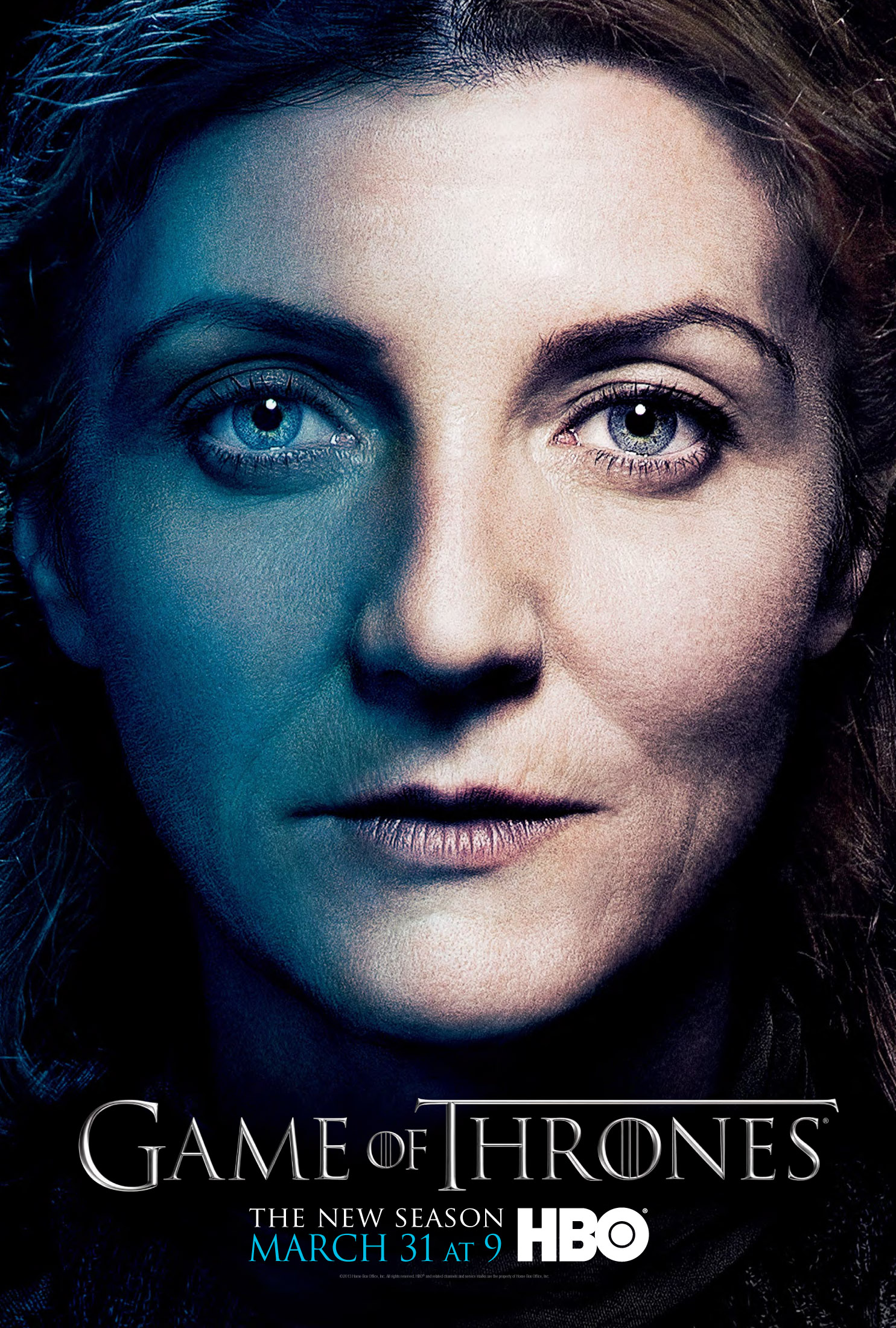 Catelyn Stark Game of Thrones season three poster.