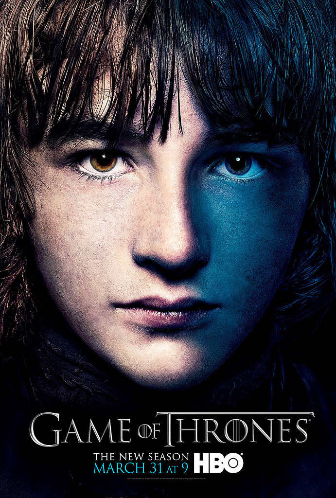 Bran Stark Game of Thrones season three poster.