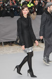 Marion Cotillard posed on her way into the Christian Dior show on Friday during Paris Fashion Week.