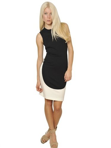 Stella Mccartney - Bicolor Cotton Jersey Dress