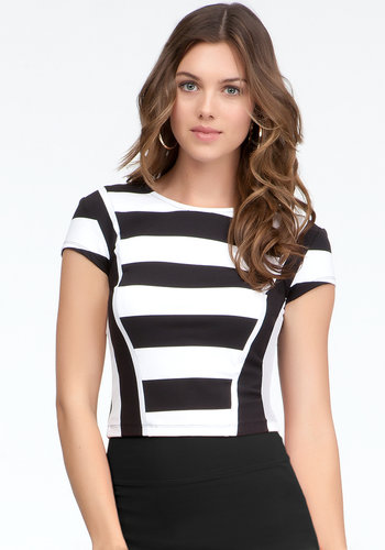 Crop Rugby Stripe Top