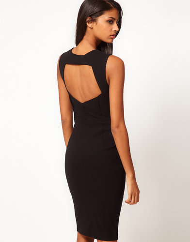 ASOS Sexy Pencil Dress with Cut Out Back