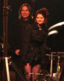 Robert Carlyle and Emilie de Ravin shot a night scene for ABC's Once Upon a Time in Vancouver on Thursday.