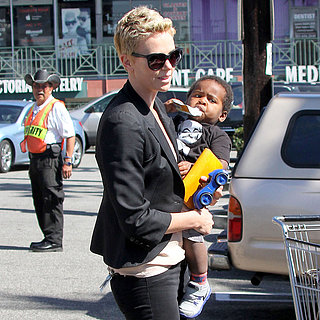Charlize Theron and Jackson at Grocery Store | Pictures