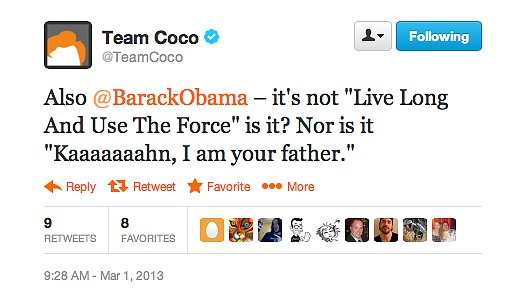 Now, Team Coco is just getting crazy.