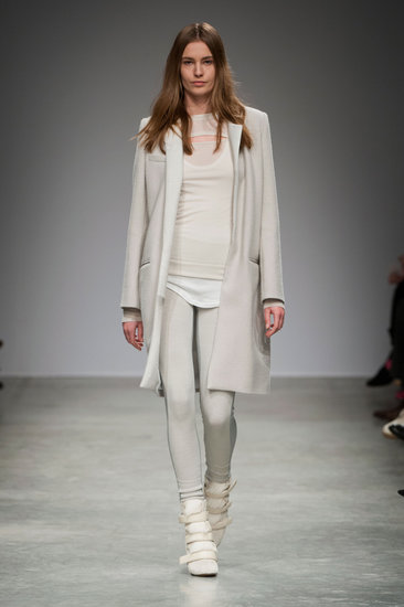 All-white everything proved to be one of the easiest, chicest iterations with a sporty finish at the Fall 2013 show. While we'd adore the outfit in its entirety, we'd settle for that coat alone.