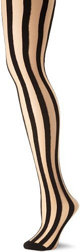 Leg Avenue Women's Sheer Vertical Stripe Pantyhose