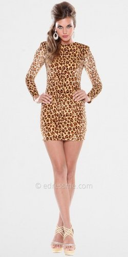 Long Sleeved Leopard Print Dresses by Atria