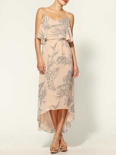 Daniel Rainn Floral Two-Tied High-Low Maxi for Less
