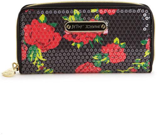 Betsey Johnson Handbag, Zip Around Wallet
