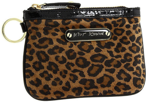 Betsey Johnson Handbags Cheetah Babe Top Zip, Natural 1 ea