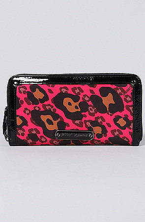 Betsey Johnson The Cheetah Boom Boom Zip Around Wallet