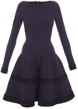 Azzedine Alaia Camee Soire lurex-band dress