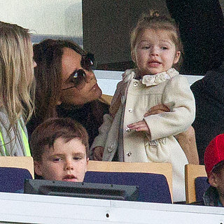 Victoria and Harper Beckham Watch Paris Saint-Germain