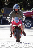 Bradley Cooper took a motorcycle out for a spin.