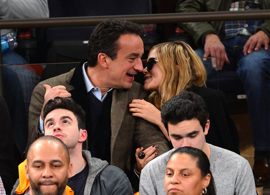 Mary-Kate and Olivier Ditch Fashion Week For PDA-Filled Knicks Game