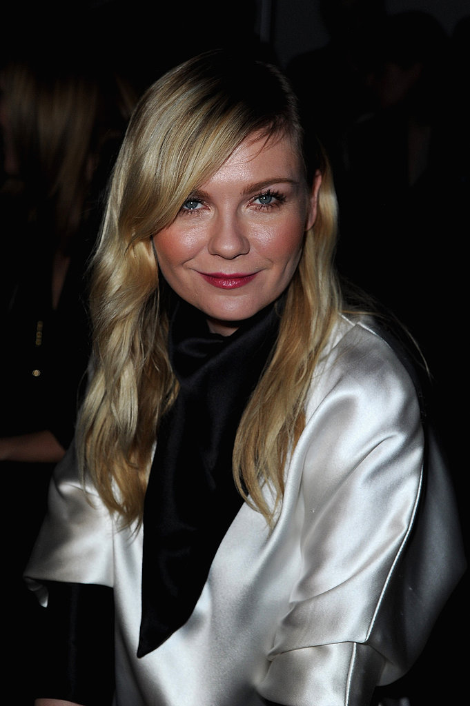 Kirsten Dunst attended the Saint Laurent runway show.