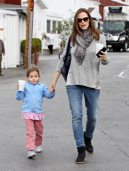 Jennifer Garner held hands with Seraphina Affleck in Brentwood.