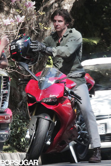Bradley Cooper hopped onto a new motorcycle.