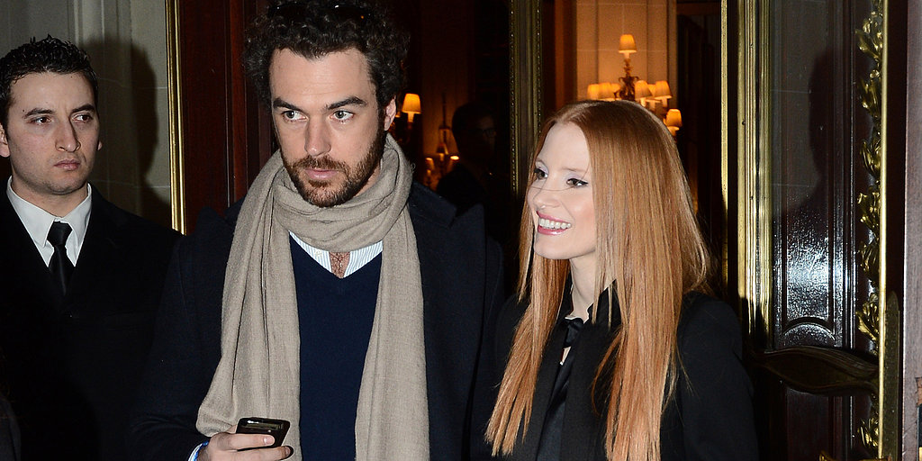 Jessica Chastain Goes Public With Her Boyfriend at Paris Fashion Week