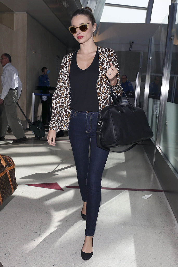 Miranda Kerr landed in LA on Friday.