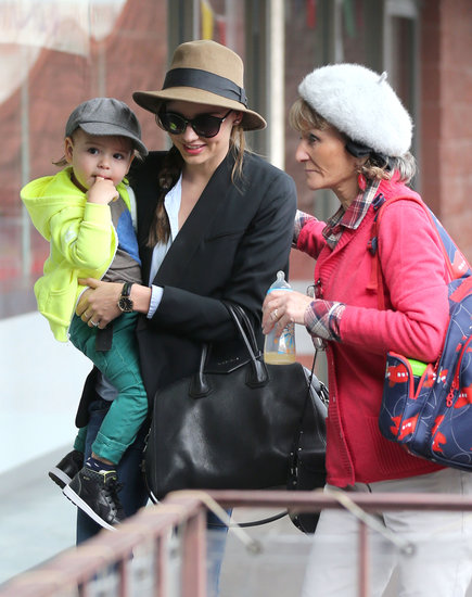 Miranda Kerr and her mother-in-law, Sonia, headed to an LA children's gym with Flynn.