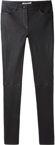 T by Alexander Wang / Stretch Leather Jeans