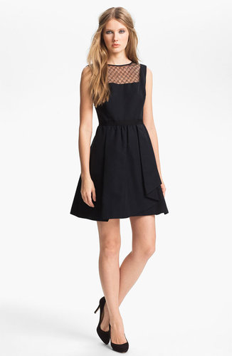 Miss Wu Lace Yoke Faille Dress (Nordstrom Exclusive)