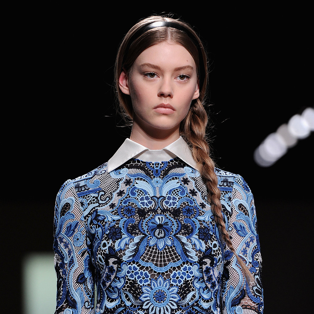 Valentino Plays Up French Charm With a Casual Side Braid