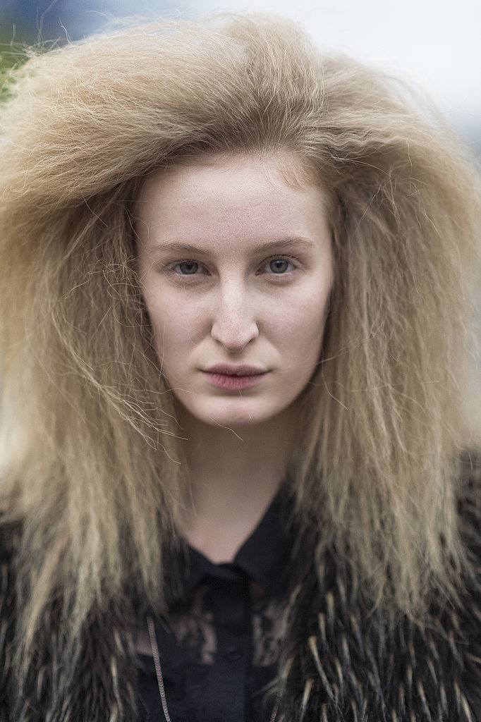 A postshow Emma Burger took crimping to a whole new level. Source: Le 21ème | Adam Katz Sinding