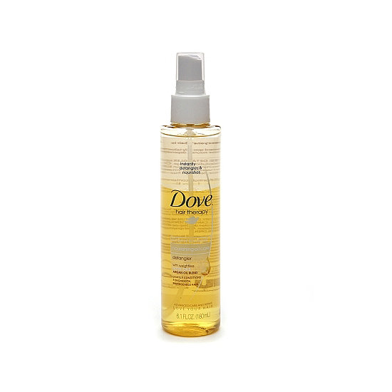 Using an oil as a leave-in conditioner may seem like a greasy mess, but such is not the case with Dove's Nourishing Oil Care Detangler Spray ($6). It disappears in an instant on wet strands; just make sure to focus the product on your ends to avoid a weighed-down look.