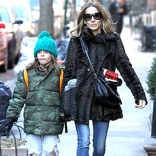 Sarah Jessica Parker Taking Her Children to School in NYC