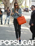 Miranda Kerr walked down the street in West Hollywood.