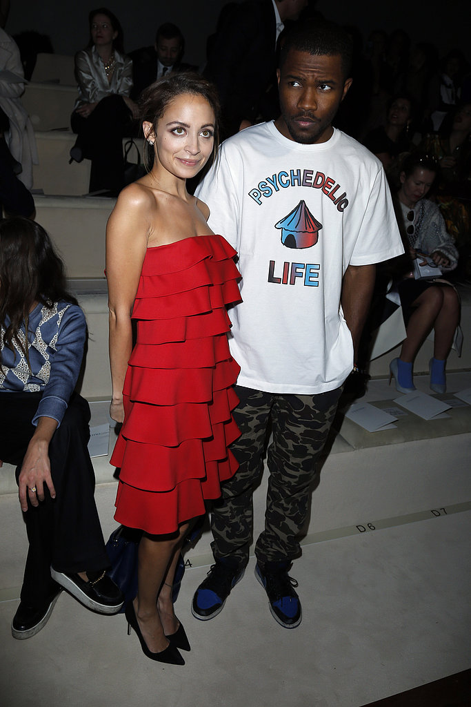 Nicole Richie and Frank Ocean attended Valentino on Tuesday in Paris.