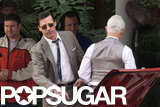 Jon Hamm Hitches a Ride With John Slattery on the Mad Men Set