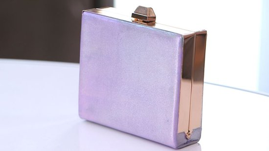 Hop on Spring's Iridescent Train — Make Your Own Metallic Clutch!