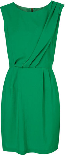 Tuck Neck Shift Dress