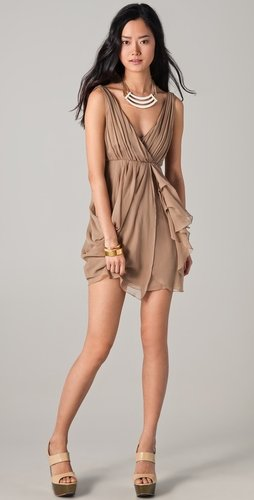 Alice + Olivia Faux Wrap Dress