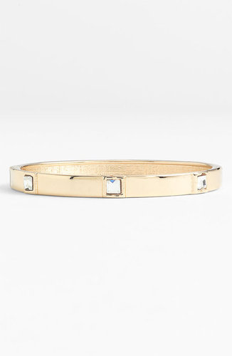 Sequin Small Square Crystal Bangle